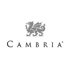 Cambria Countertops Logo at Fargo Linoleum
