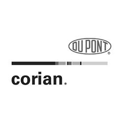 DuPont Corian Countertops Logo at Fargo Linoleum