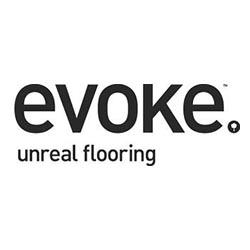 Evoke Vinyl Flooring Logo at Fargo Linoleum