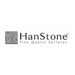 HanStone Countertops Logo at Fargo Linoleum