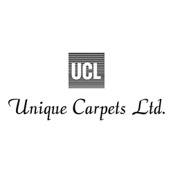 UCL Unique Carpets Ltd. Carpets Logo at Fargo Linoleum